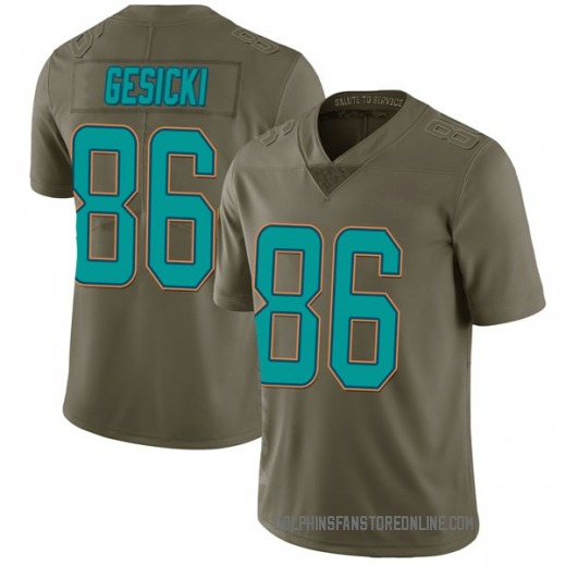 new arrival 1bb67 41a36 Limited Youth Mike Gesicki Miami Dolphins Nike 2017 Salute to Service  Jersey - Green
